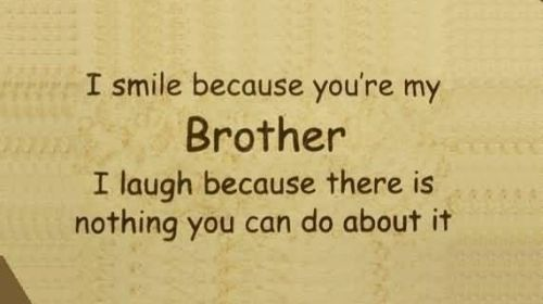 Sibling Quotes For Your Cute Brother